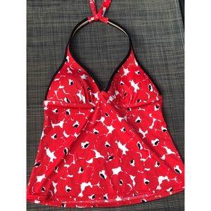 Victoria Secret Red & White Swim Top